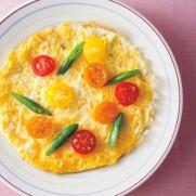 三島塾の糖質制限メニュー例「卵ピザ」
